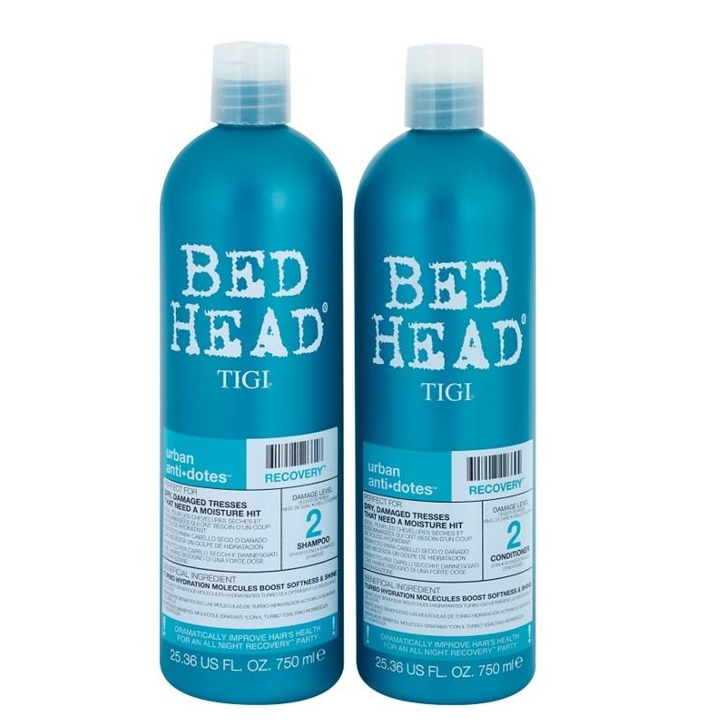 Набор Tigi Bed Head Urban Antidotes Recovery (Увлажняющий шампунь для сухих и поврежденных волос 750 ml. + кондиционер 750 ml.)