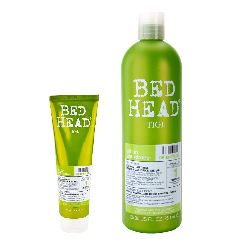 Укрепляющий шампунь для нормальных волос Tigi Bed Head Urban Antidotes Re-Energize Shampoo
