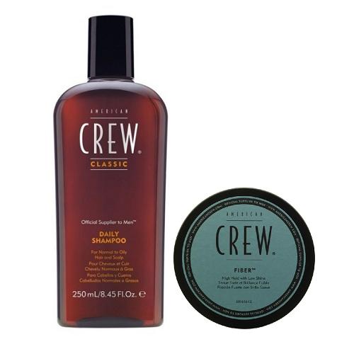 Матовая паста сильной фиксации American Crew Fiber 85 g. + Шампунь ежедневный American Crew Classic Daily Shampoo 250 ml.
