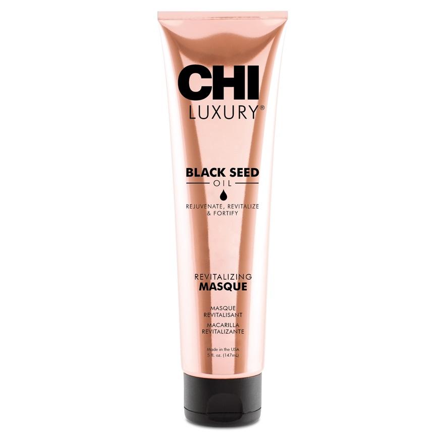 Восстанавливающая маска для волос с маслом семян черного тмина CHI Luxury Revitalizing Masque, 147 ml.