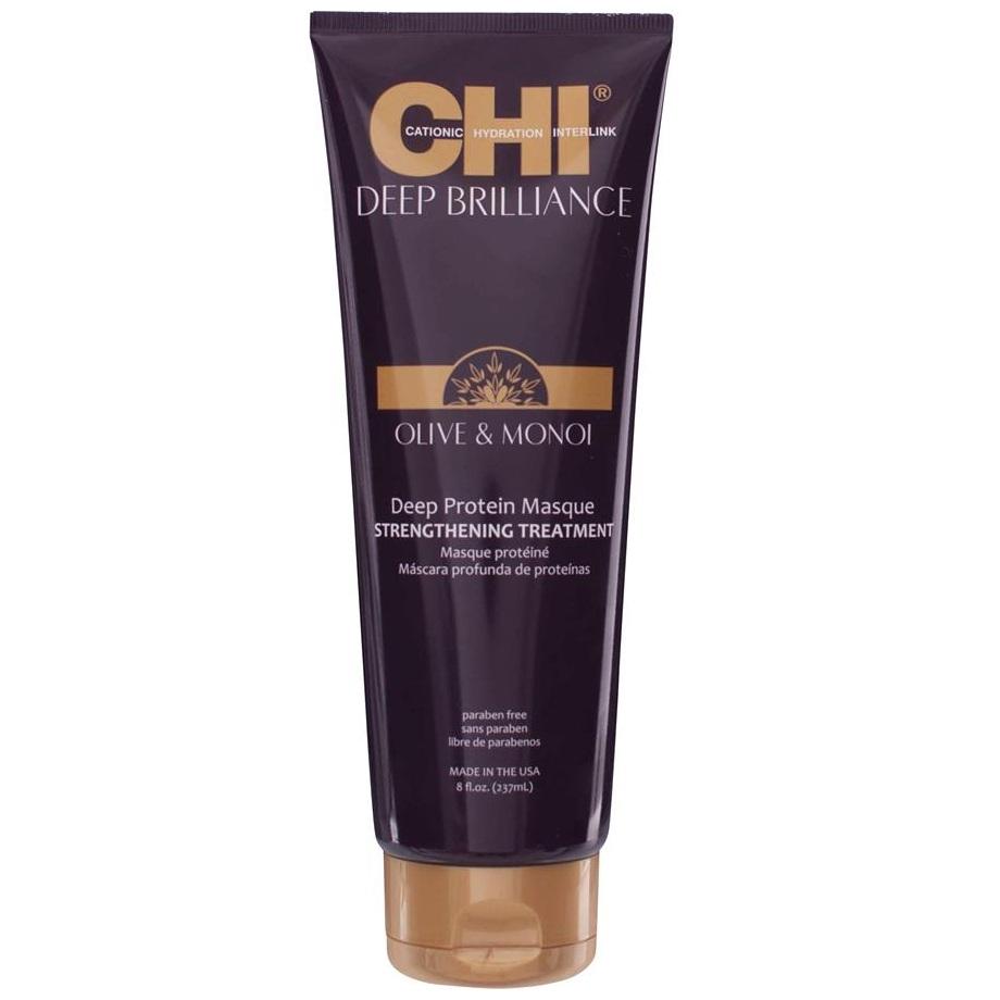 Протеиновая маска для волос CHI Deep Brilliance Deep Protein Masque Strengthening Treatment 237 ml.