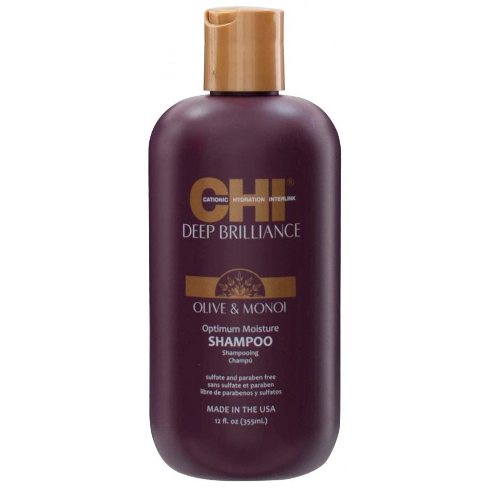 Увлажняющий шампунь CHI Deep Brilliance Olive&Monoi Optimum Moisture Shampoo