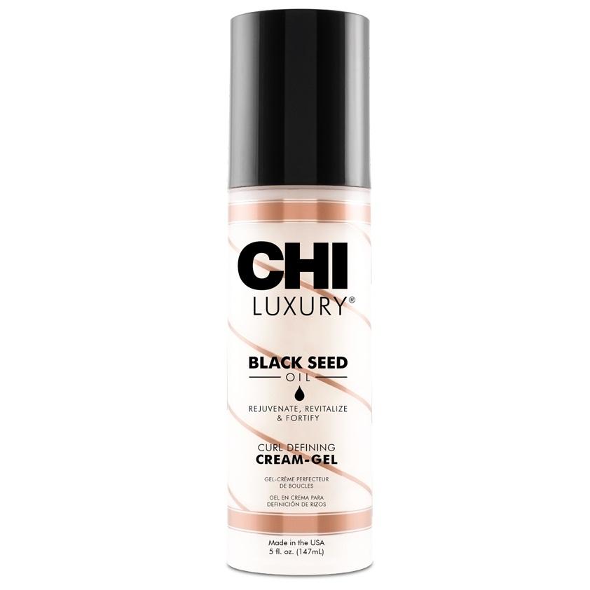 Несмываемый крем для кудрявых и вьющихся волос Chi Luxury Black Seed Oil Curl Defining Cream-Gel 148 ml.