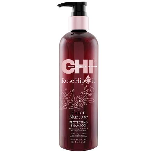 Защитный шампунь для окрашенных волос CHI Rose Hip Oil Protecting Shampoo