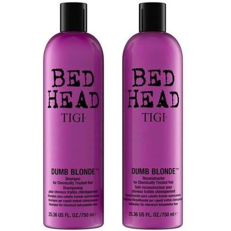 Набор Tigi bead head dumb blonde (Восстанавливающий шампунь для блондинок, 750 ml. + кондиционер 750 ml.)